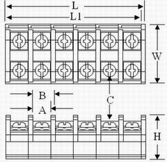 TR series terminal blocks Drawing