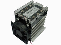 SSR-T Three Phase Solid State Relays with protective cover, heat sink, and fan